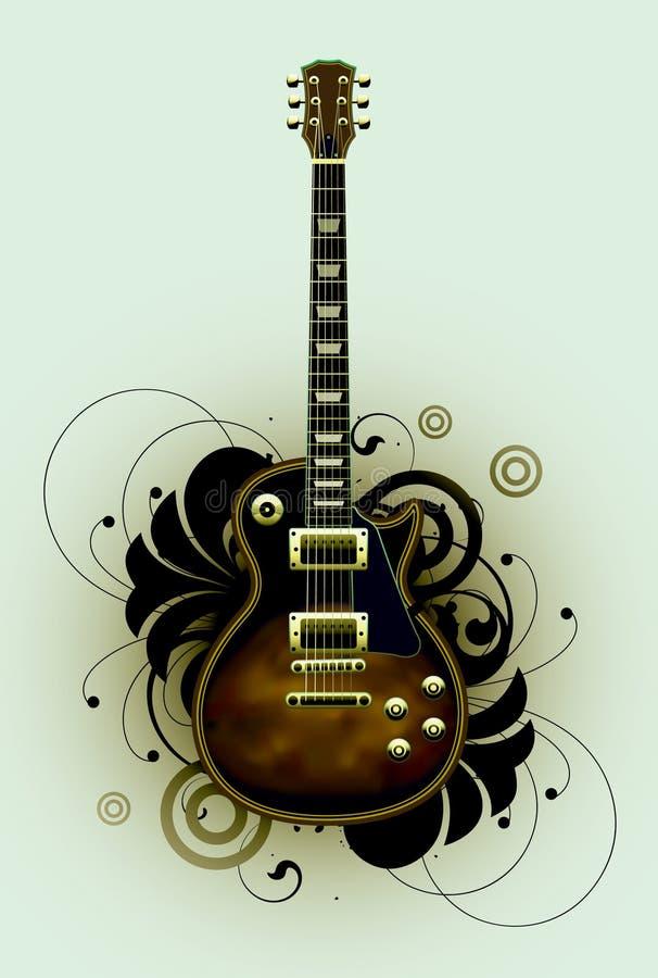 Download Sumário com guitarra ilustração do vetor. Ilustração de retro - 16870717