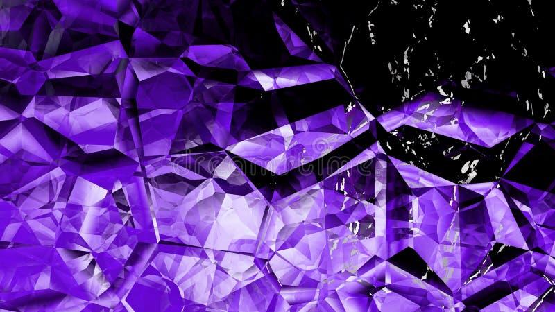 Sumário Crystal Background Image roxo fresco ilustração do vetor