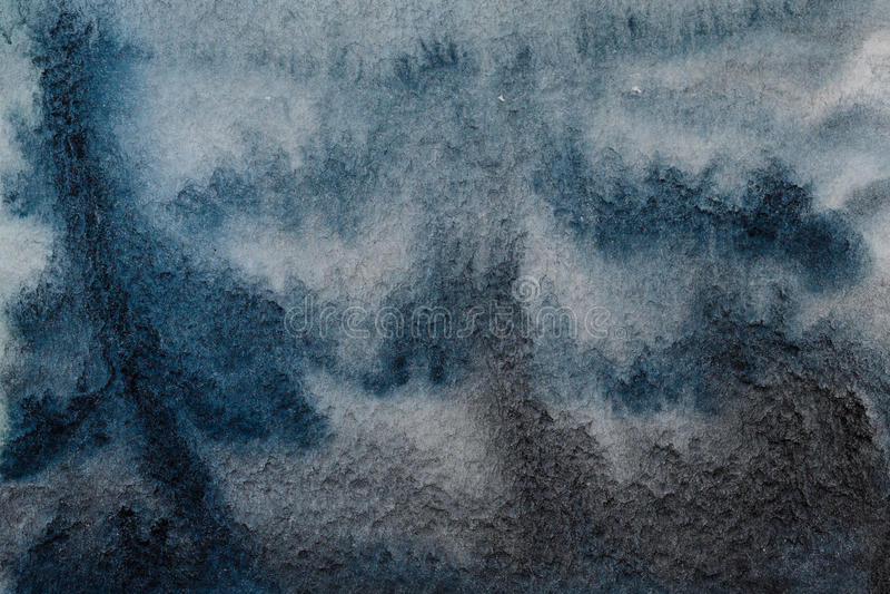 Sumário da aquarela do preto azul ilustração stock