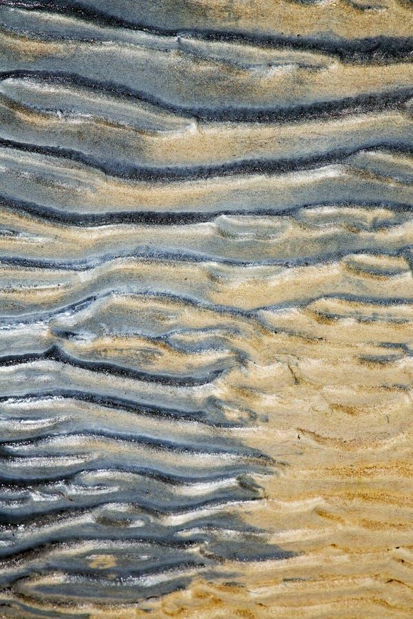 Sumário da baía de Tao de uma areia molhada e da praia no Sul da China foto de stock royalty free