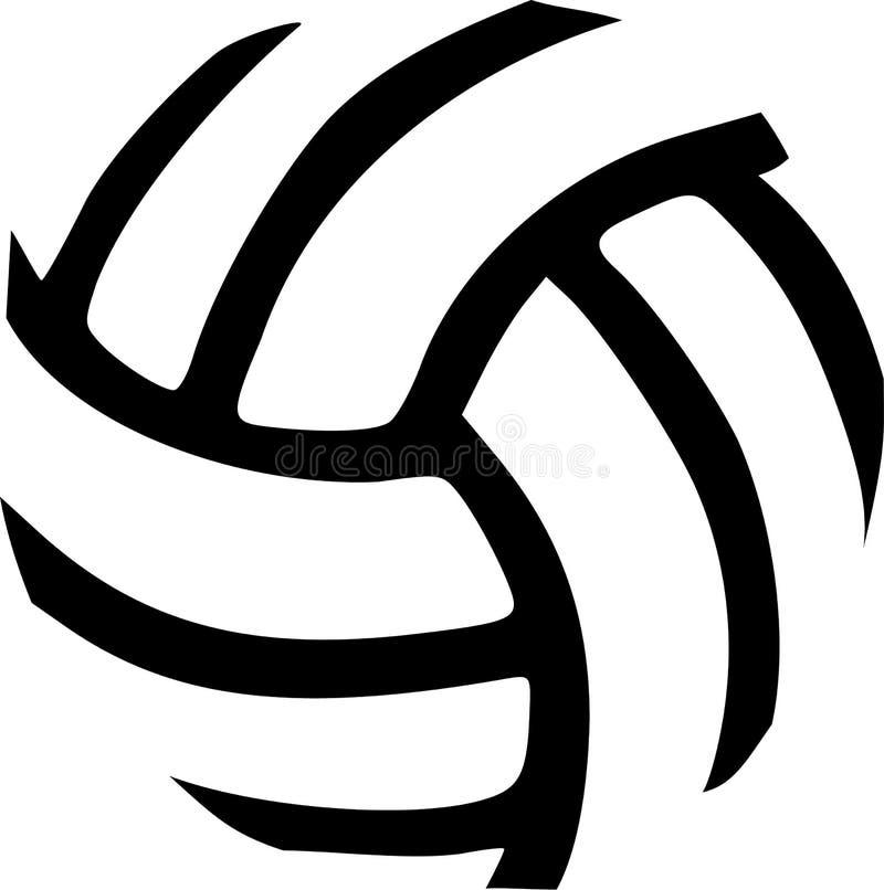 Sumário da bola do voleibol ilustração stock