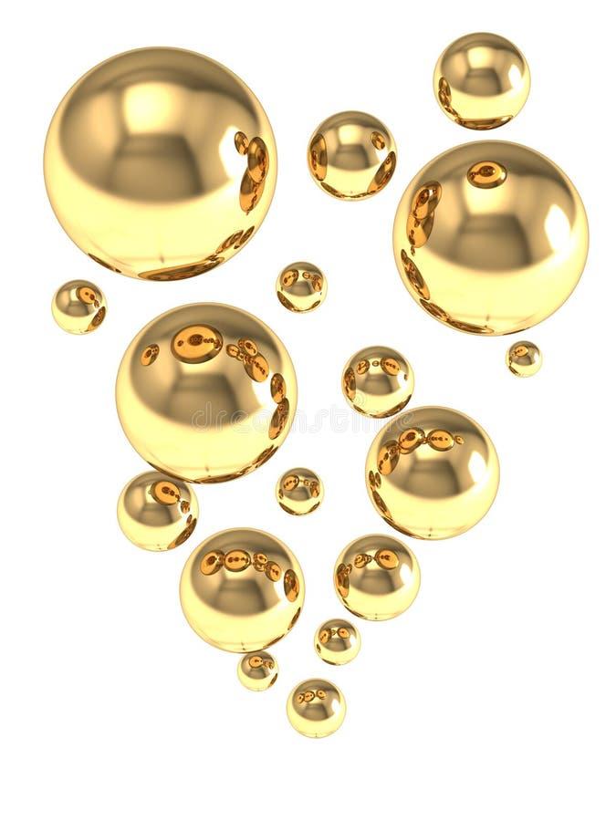 Sumário com bolhas transparentes ilustração do vetor