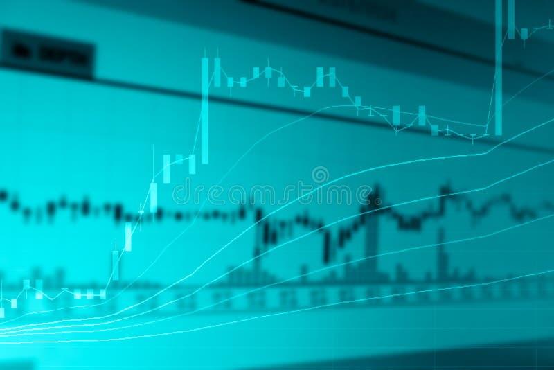 Sumário da exposição dobro da carta do mercado de valores de ação fotos de stock