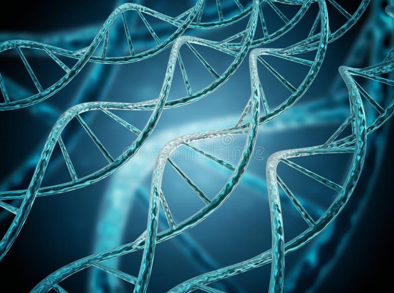Sumário da hélice do ADN ilustração stock