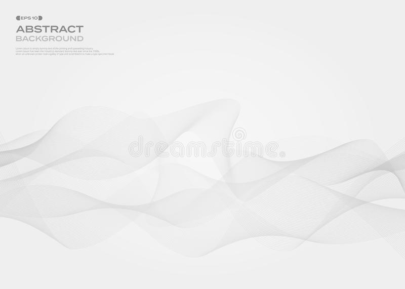 Sumário da linha livre cinzenta fundo da listra do estilo do teste padrão, vect ilustração royalty free