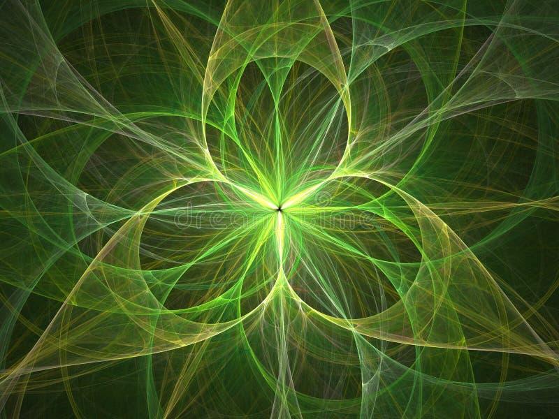 sumário da luz da flor 3D ilustração do vetor