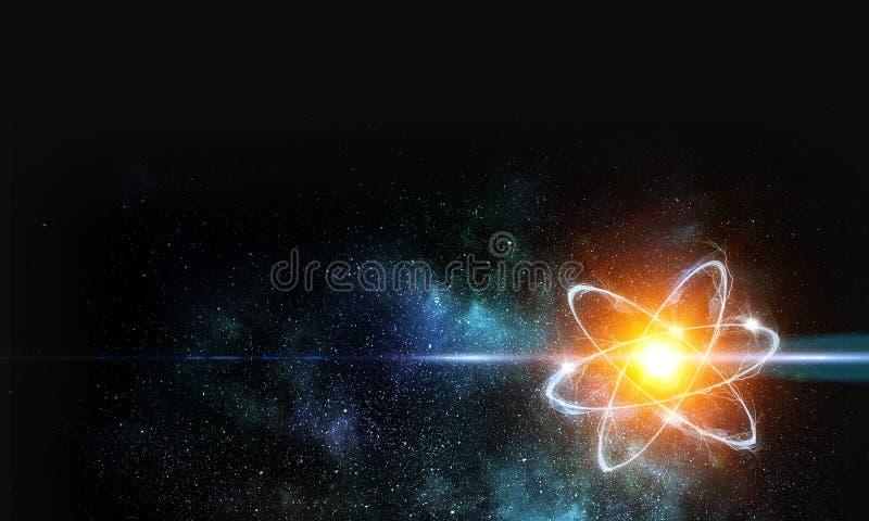 Sumário da molécula do átomo fotos de stock royalty free
