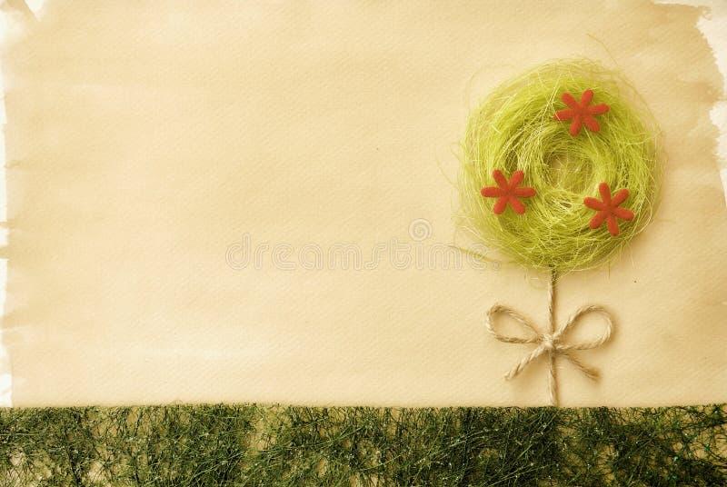 Sumário da paisagem da árvore da flor do vintage imagem de stock royalty free