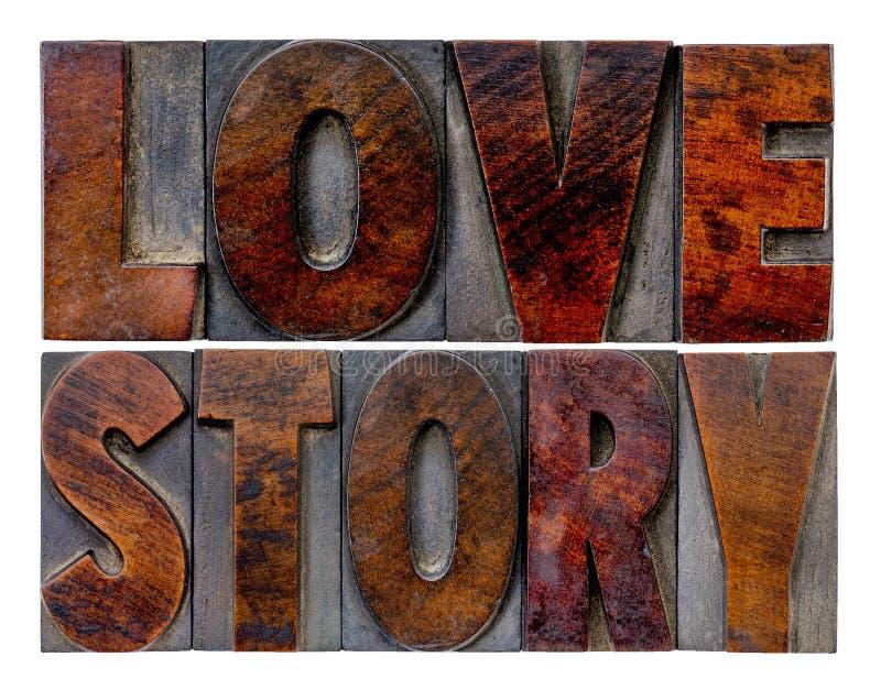 Sumário da palavra da história de amor imagens de stock