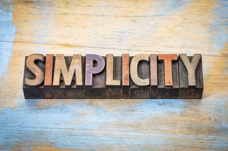 Sumário da palavra da simplicidade foto de stock