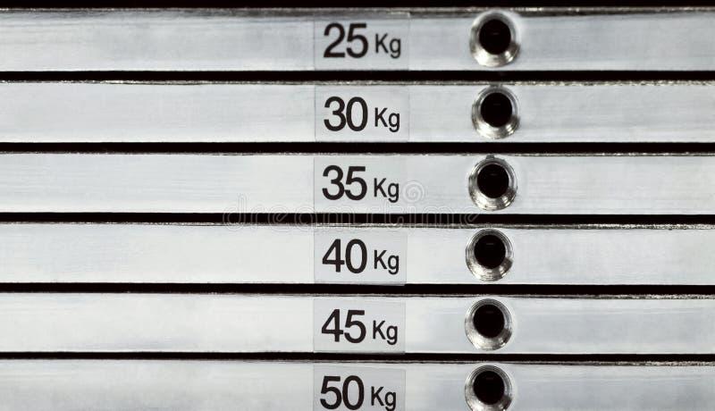 Sumário da pilha do peso fotos de stock