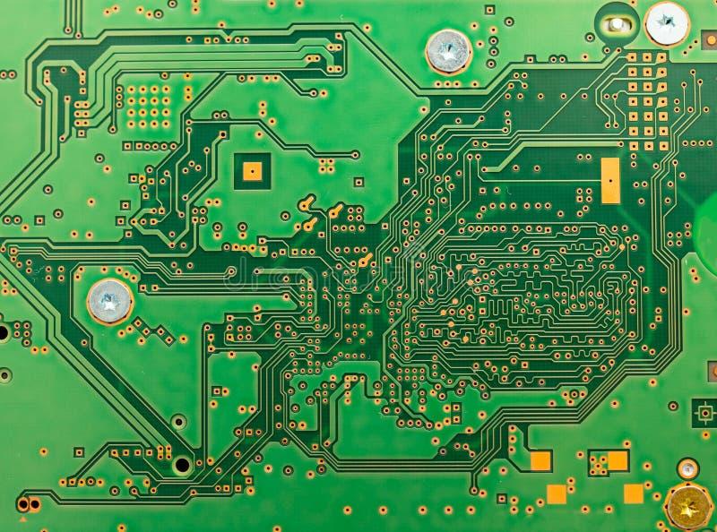 Sumário da placa de circuito com cor verde fotos de stock royalty free