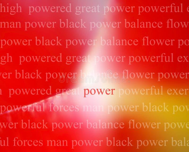 Sumário da potência ilustração stock
