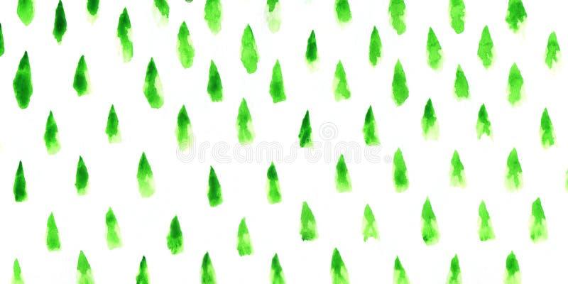Sumário das árvores de Natal ilustração stock