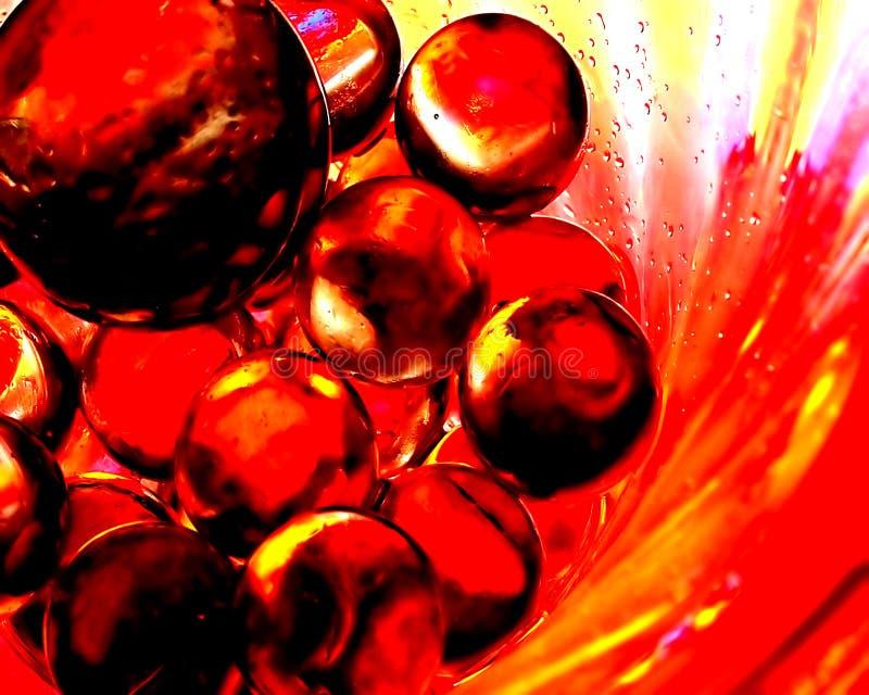 Sumário das bolas de fogo II imagem de stock