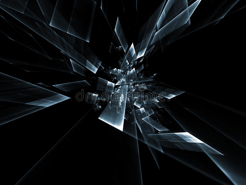 Sumário das partículas do movimento ilustração stock