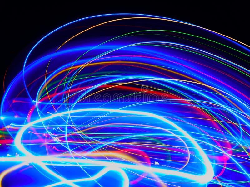 Sumário de colorido obscuro de luzes do diodo emissor de luz dos movimentos imagem de stock royalty free