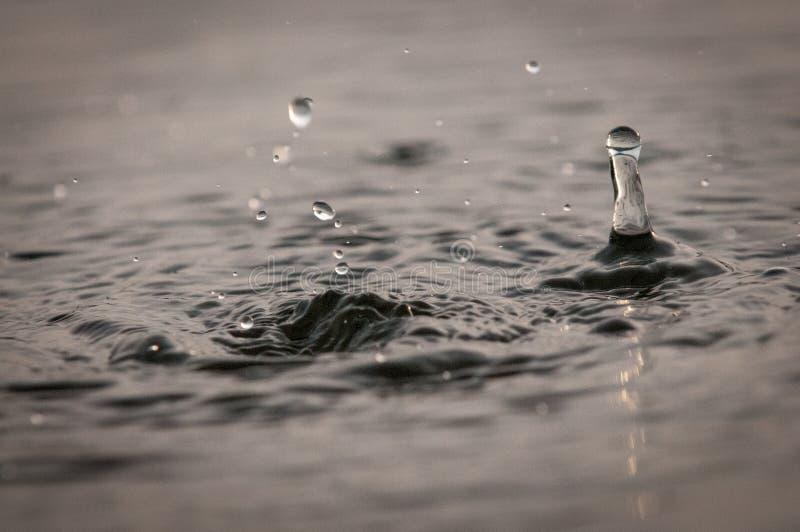 Sumário de gotas e de ondinhas da água foto de stock