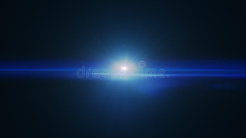 Sumário de iluminar o alargamento digital da lente no fundo escuro ilustração stock