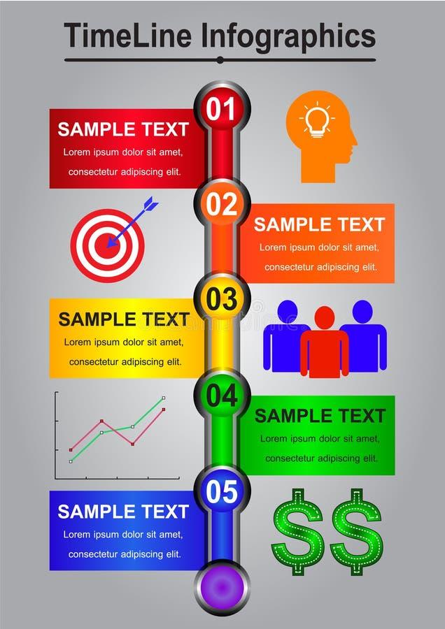 Sumário de Infographics do espaço temporal para o negócio fotos de stock