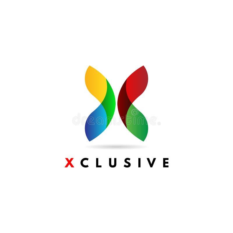 Sumário X dinâmico colorido Logo Sign Symbol Icon ilustração stock