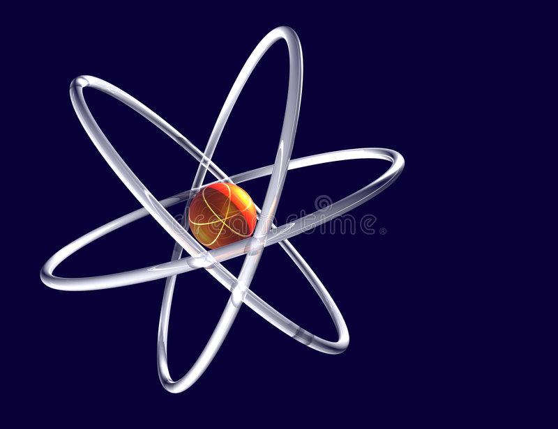 Sumário do átomo foto de stock
