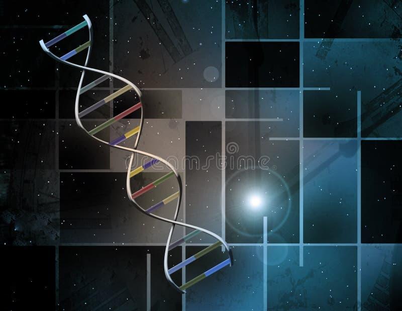 Sumário do ADN ilustração royalty free