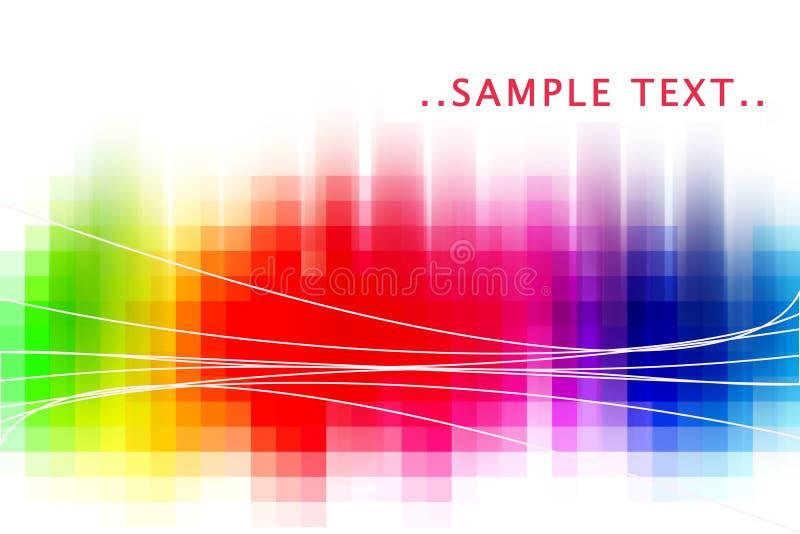 Sumário do arco-íris ilustração stock