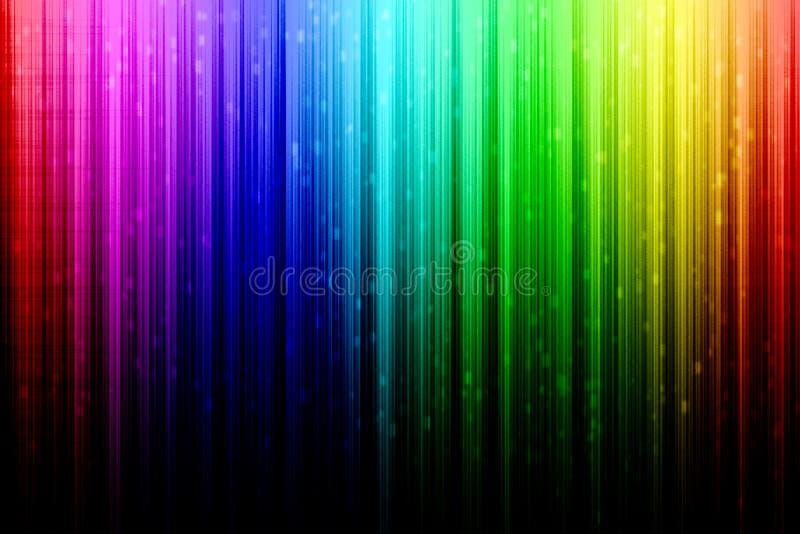 Sumário do arco-íris com chuva branca ilustração royalty free