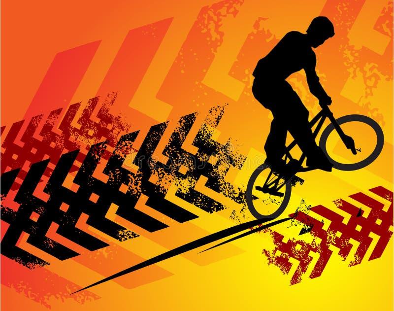 Sumário do ciclista ilustração royalty free