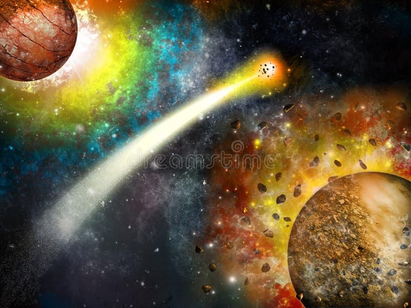 Sumário do cometa ilustração royalty free