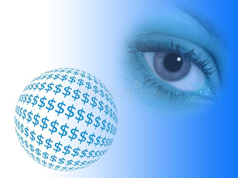 Sumário do dólar ilustração stock