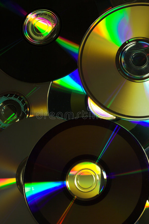 Sumário do disco compacto fotos de stock