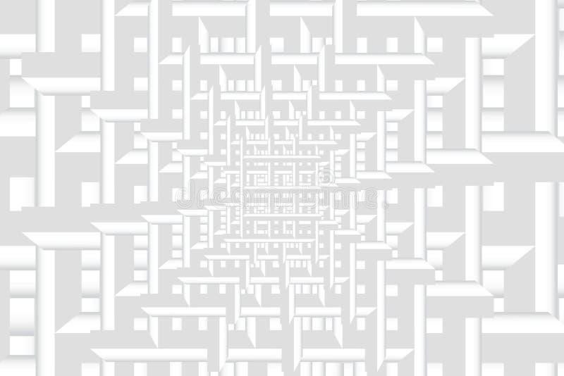 Sumário do espaço de teste padrão branco composto de quadrados regulares ilustração royalty free
