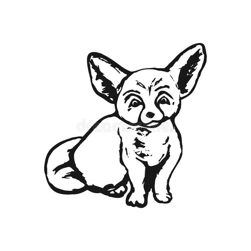 Sumário do Fox que tira Phoenix ilustração do vetor