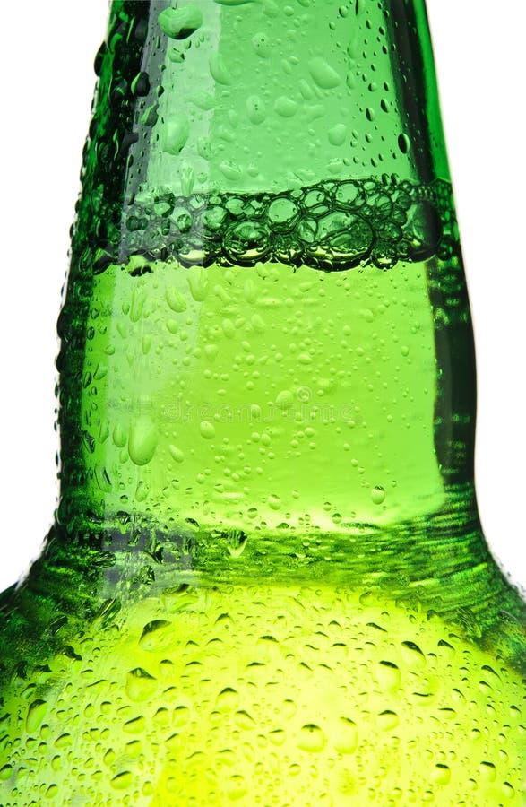 Sumário do frasco de cerveja isolado imagem de stock