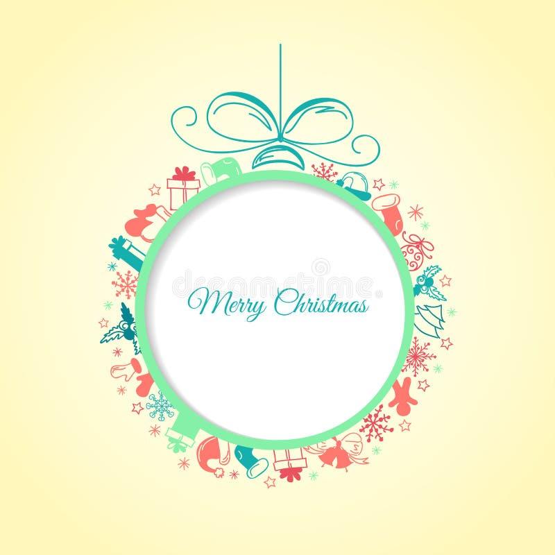Sumário do fundo da bola do Natal ilustração stock