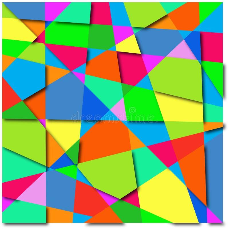 Sumário do fundo de formas coloridas imagens de stock