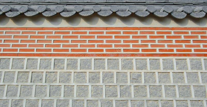 Sumário do fundo do telhado da textura do templo da parede imagem de stock