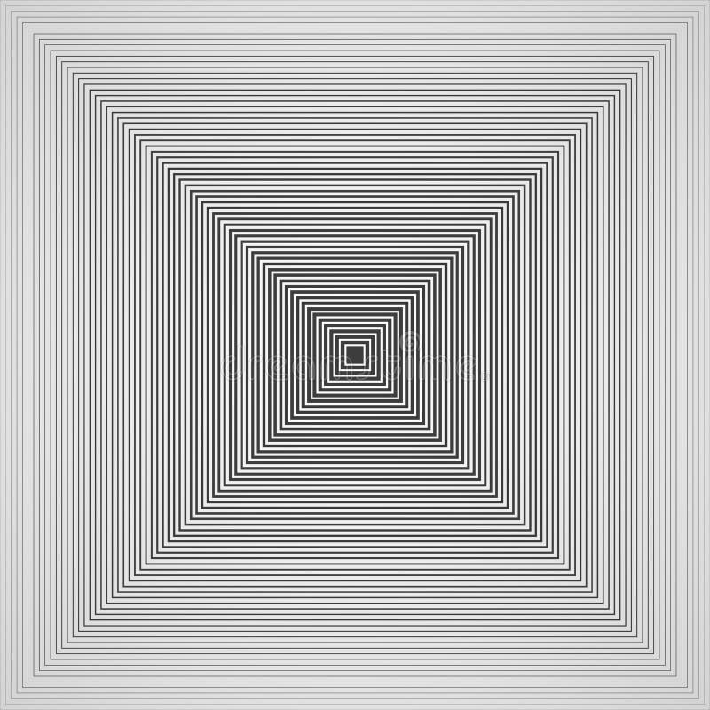 Sumário do fundo quadrado do teste padrão da pirâmide preto e branco futurista do projeto simples ilustração royalty free
