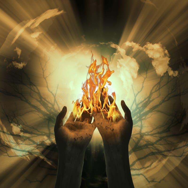 Sumário do incêndio do mistério ilustração royalty free