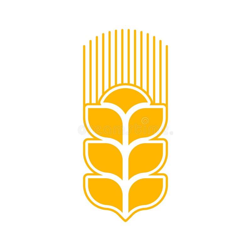Sumário do logotipo do trigo Sinal agrícola do emblema isolado ilustração royalty free