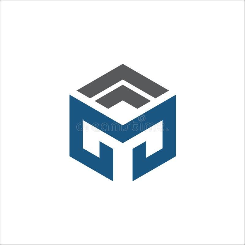 Sumário do logotipo do hexágono do vetor M ilustração do vetor