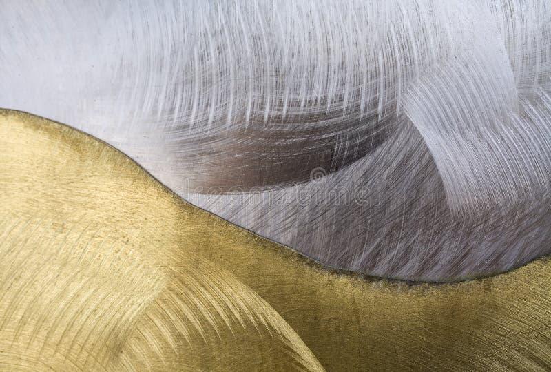 Sumário do ouro e da prata fotografia de stock