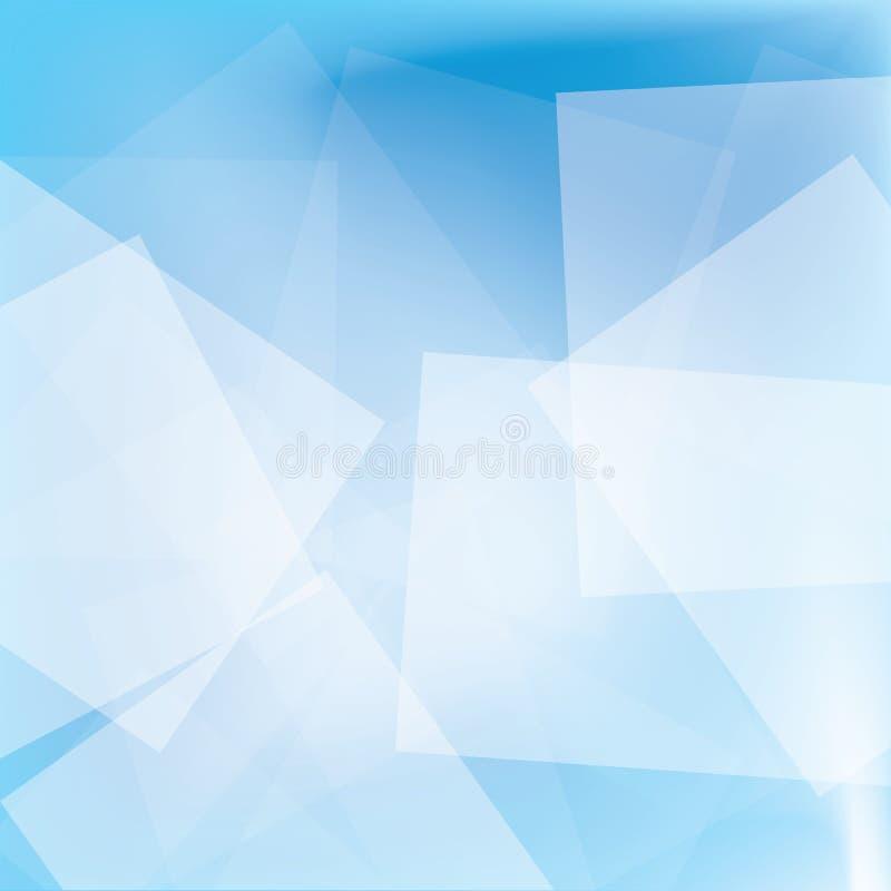 Sumário do quadrado branco no fundo azul fotografia de stock