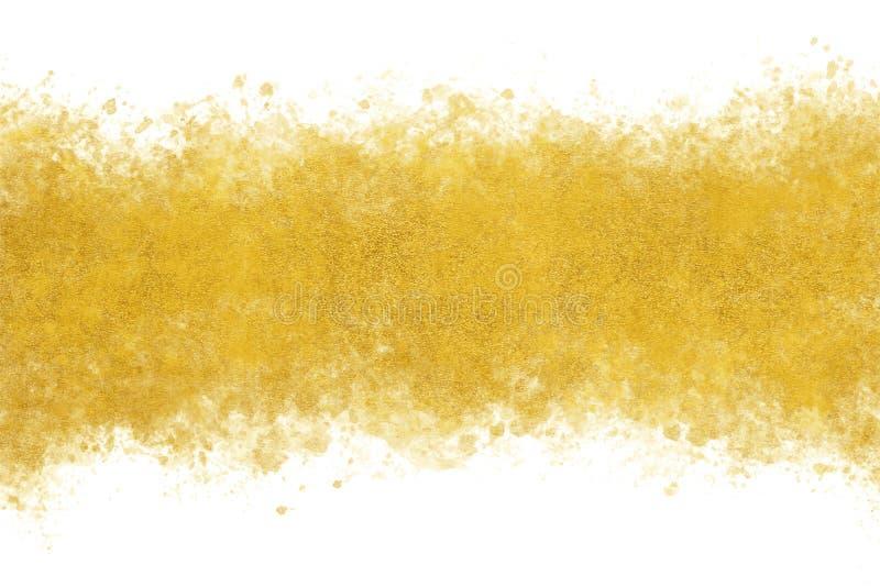 Sumário do respingo da aquarela da tinta do ouro do ano novo ou fundo japonês da pintura da mão do vintage, ilustração do vetor ilustração royalty free