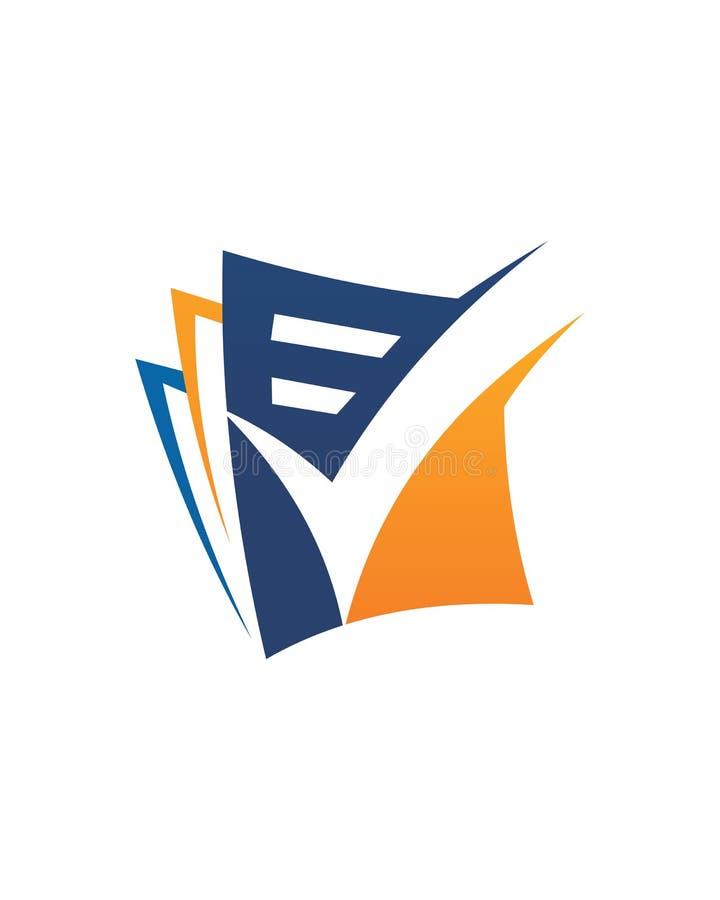 Sumário do seguro comercial da solução 2 da verificação da contabilidade ilustração stock