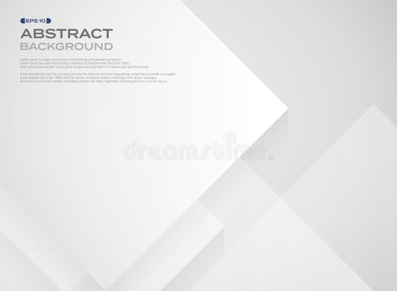 Sumário do teste padrão quadrado largo do Livro Branco no fundo das camadas ilustração royalty free