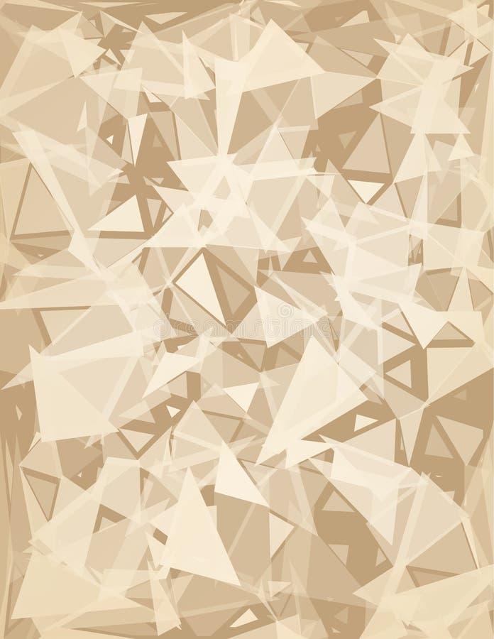 Sumário do triângulo ilustração stock