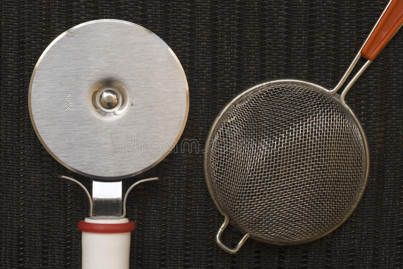 Sumário do utensílio da cozinha fotografia de stock royalty free